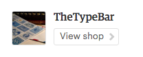 The Type Bar on Etsy